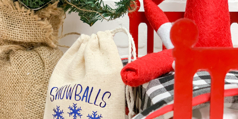 Elf on a Shelf Snowball Bag