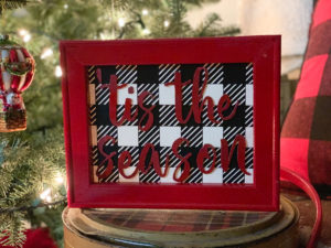 Buffalo Plaid Reverse Canvas