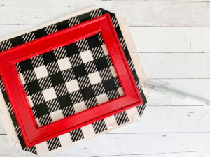 Buffalo Plaid Red Frame