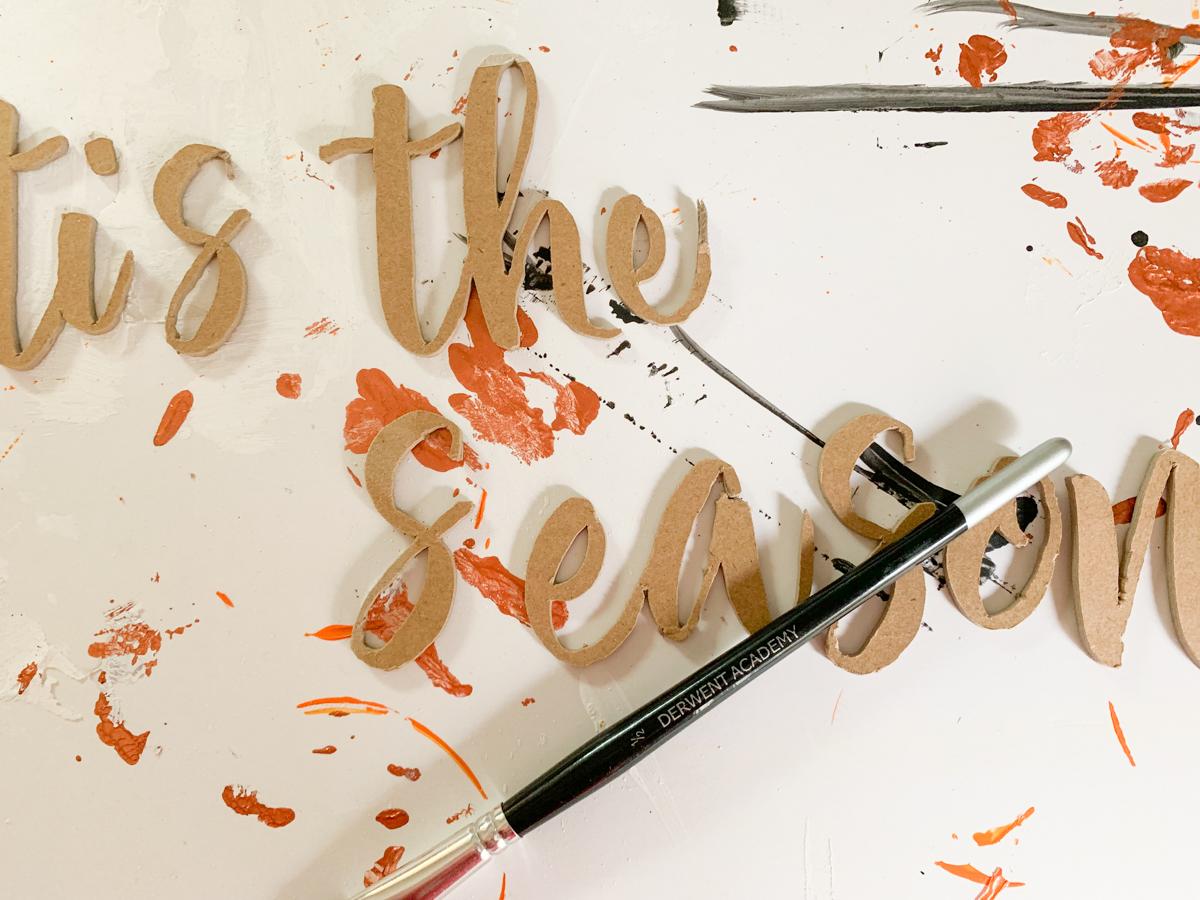 Chipboard Script Paint Brush