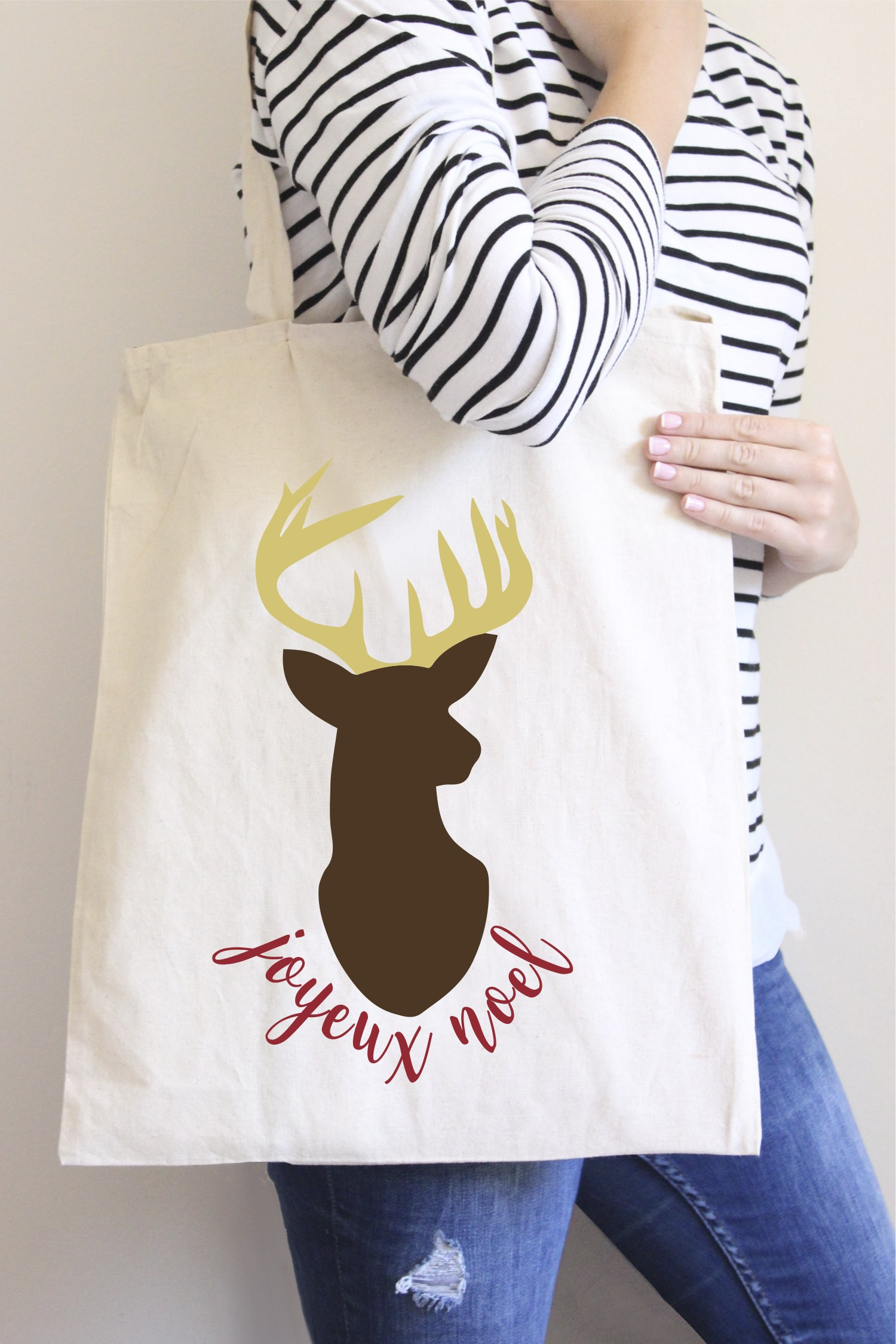 Joyeux Noel Holiday Tote Bag