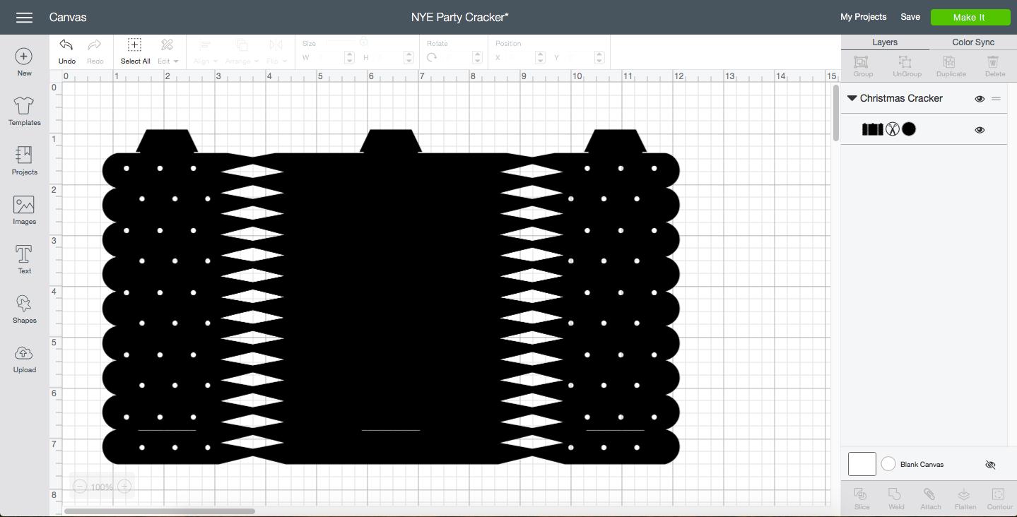 Cricut Design Space Screen Shot