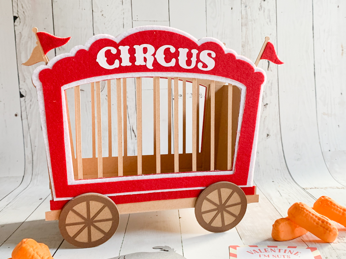 Circus Car Valentine S Day Card Box With Cricut Everyday Party