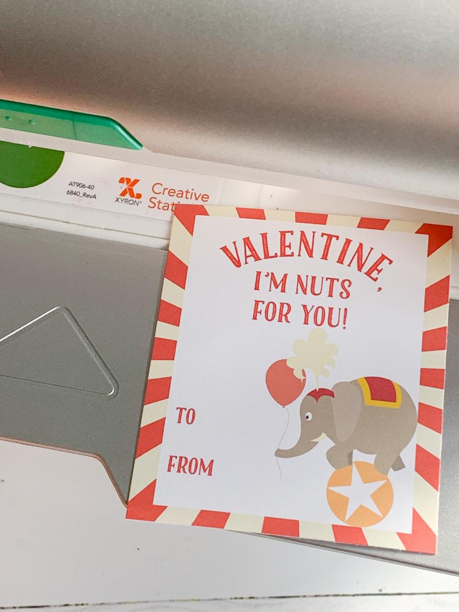 Circus Valentine's Day Card Xyron Creative Station