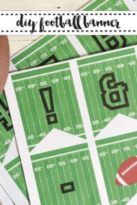 Printable Football Banner Football