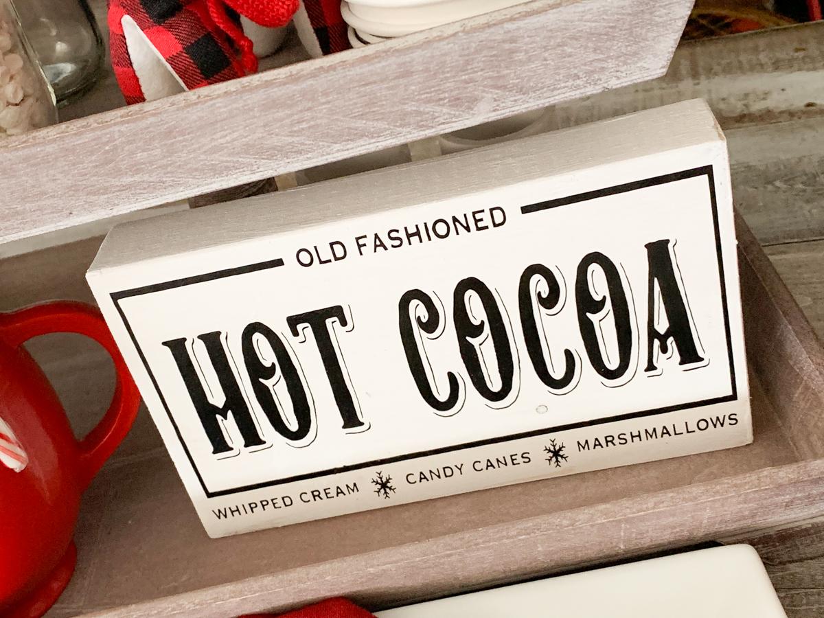Farmhouse Style Hot Cocoa Sign