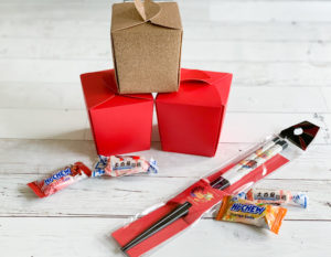 Chinese Take Out Box Chopsticks Candies