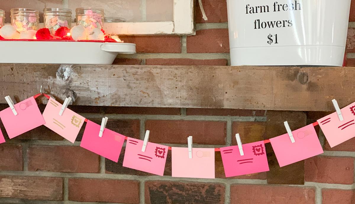 Valentine's Day Envelope Banner