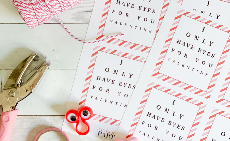 Valentine's Day Cards Googly Eyes Hole Punch Washi Tape Twine