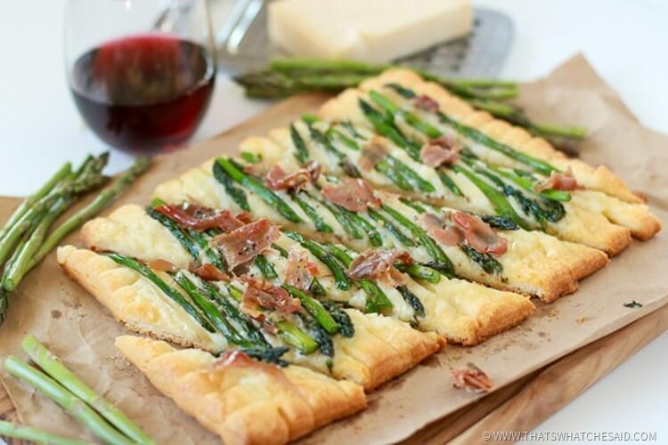 Prosciutto Asparagus Tart