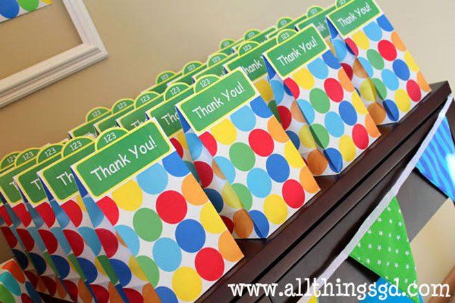 Sesame Street Themed Favor Bags